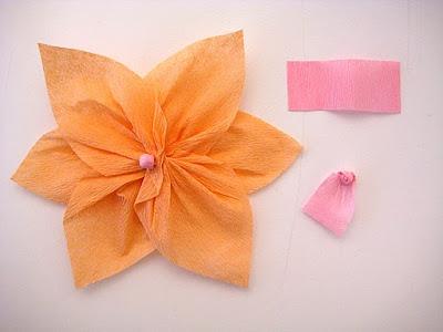 clic aqu para ver el paso a paso de est hermosa flor de papel crepe