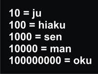 japon numeracion