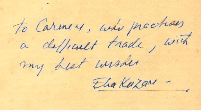 Elia Kazan um dos fundadores do Actor's Studio