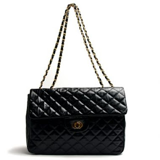 Quilted, chain shoulder purse @ Chasing Davies