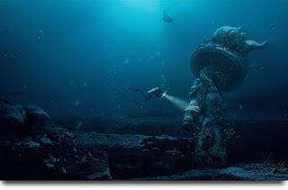Fotomontaje: Especie extraña en el mar.