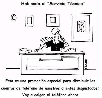 Chiste Grafico: Llamando al servicio tecnico