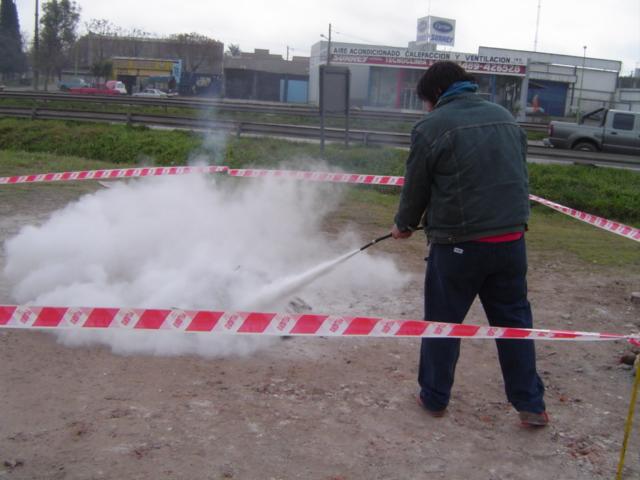 Capacitacion practica Uso de Extintores