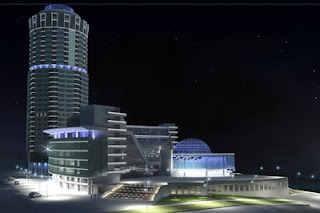 Business center Demidov night render