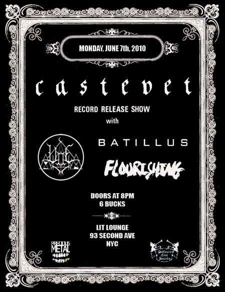 Castevet, Woe, Batillus & Flourishing - June 7th - Lit