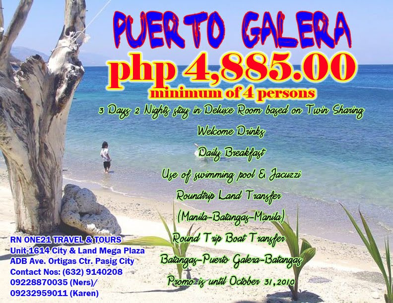 Cheapest Package Tour To Puerto Galera Lifehacked1st Com