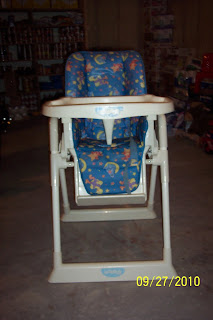 Cleaning Out Our Closets Sesame Street High Chair