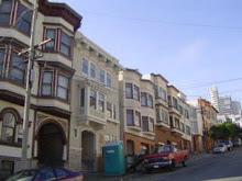 Una calle empinada