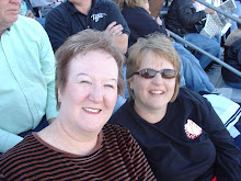 Mamma and Rhonda happily waiting to cheer Courtney on as she competes in band competition!