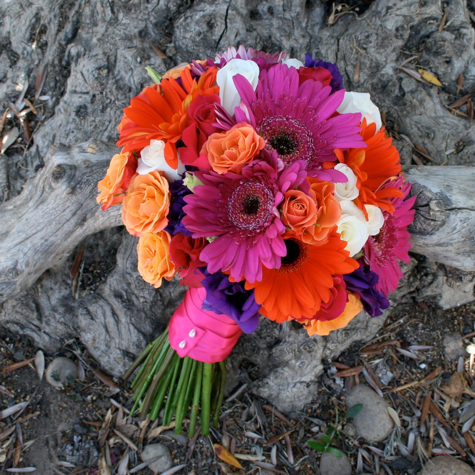 June Wedding Flowers: Brown Bunny Flowers: June 25, 2010