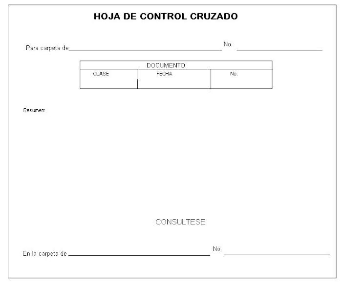 formato de control cruzado