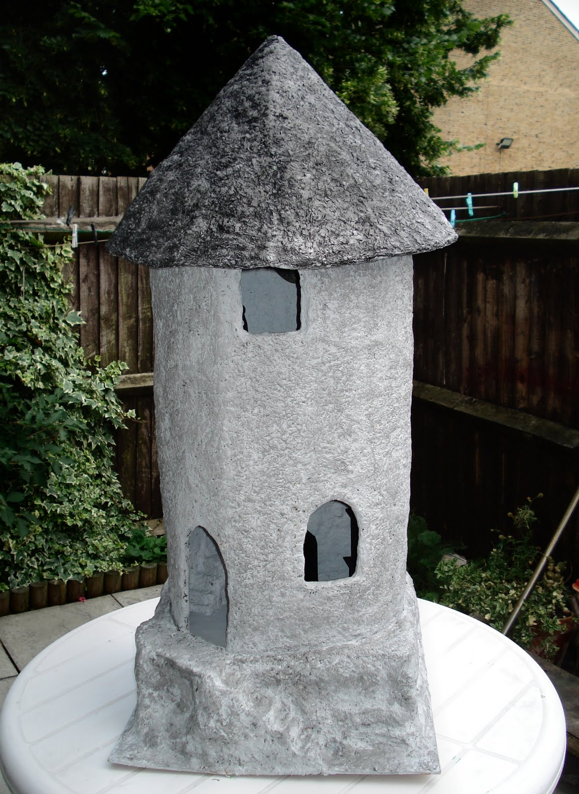 Paper Mache Project Wizards Tower Part 7 Julietk