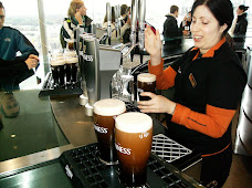 Guinness being served at the Guinness Storehouse Gravity Bar