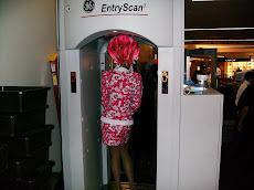 Drag queen through security