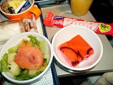 Pink food on Pink Flight