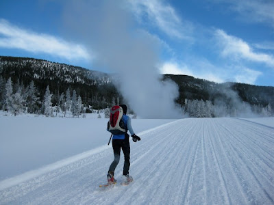Yellowstone snowshoe running