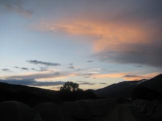Prelude to Gore-Tex TransRockies Run sunset