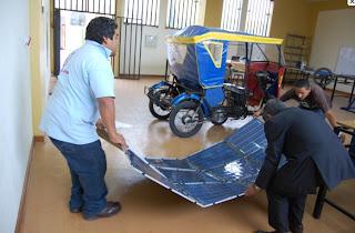 Mototaxi Solar Desarrollado En Per 250 Para Reducir La