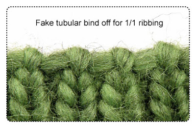 fake tubular 1/1 bind off picture COPYRIGHT