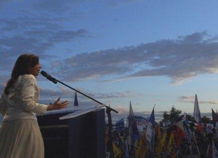 Cristina finalizó su campaña en La Matanza