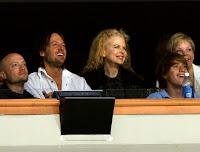 Nicole Kidman and Keith Urban at a Nashville Predators game