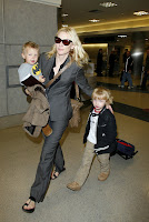 Cate Blanchett and her kids at LAX