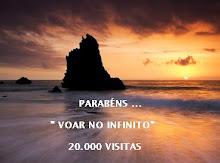 Selo 20.000 visitas Voar no Infinito