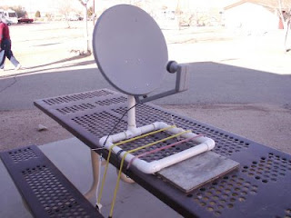 The side mounted pull out tv with satellite dish incase jerry