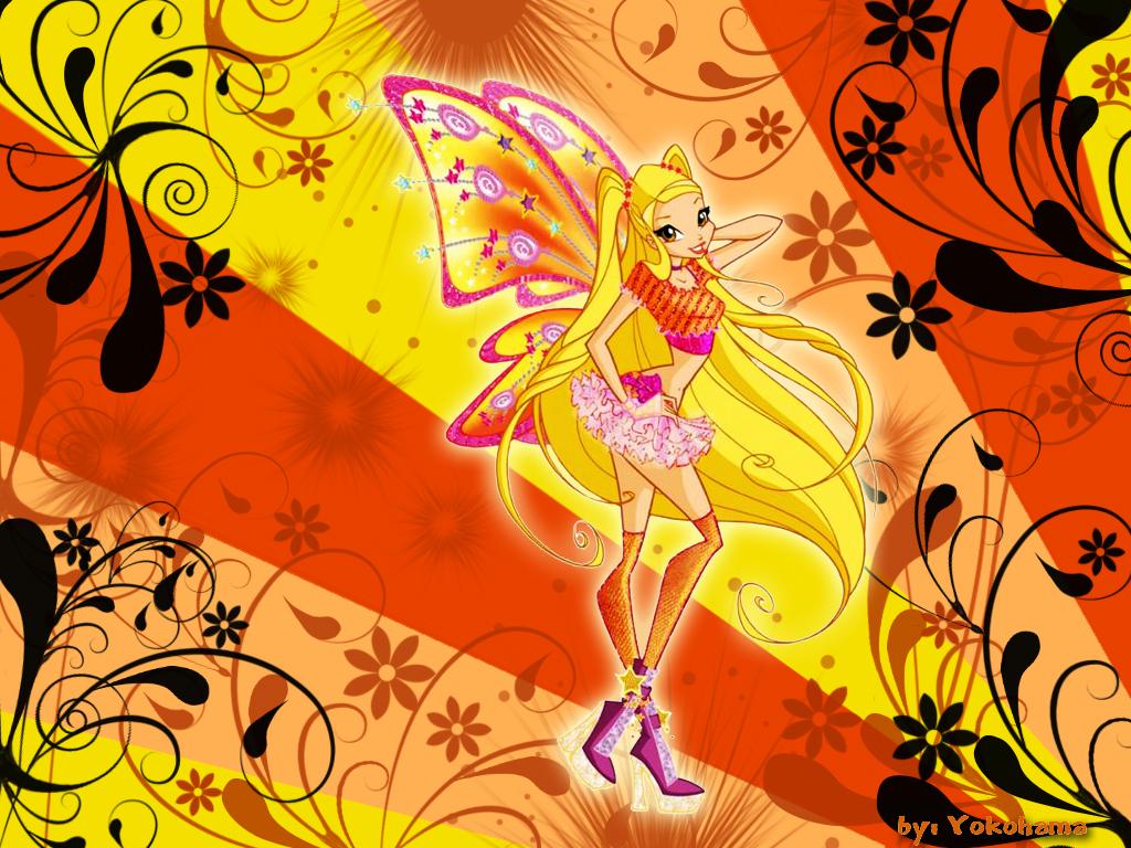 Winx Club Enchantix Bloom, Flora, Stella