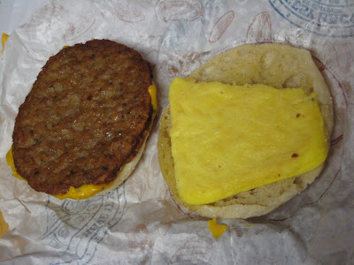 Inside the BK Breakfast Muffin