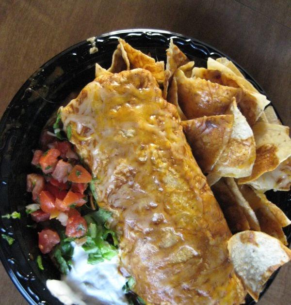 Review Baja Fresh Chicken Burrito Mexicano Enchilado Style