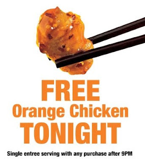 Panda Express - Free Orange Chicken after 9pm
