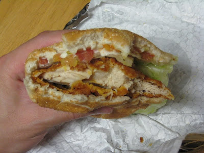 Wendy's Spicy Chicken Sandwich cross section