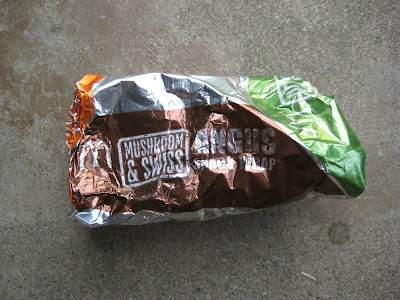 McDonald's Mushroom & Swiss Angus Snack Wrap in foil