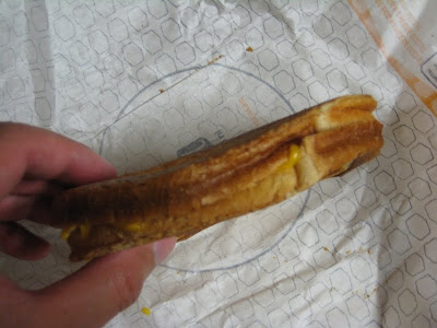 Jack in the Box Grilled Cheese side view