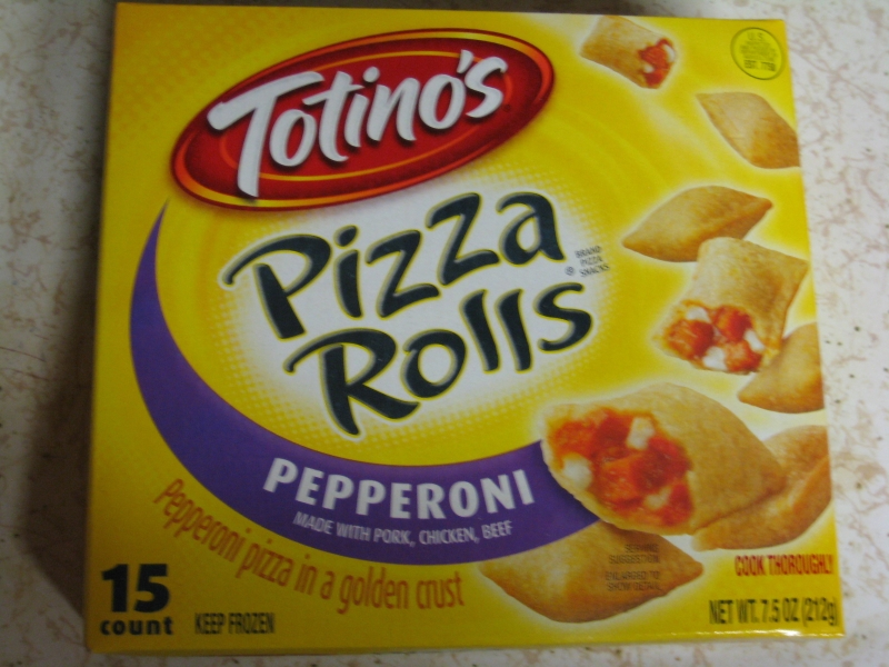 frozen friday totino's pizza rolls  brand eating