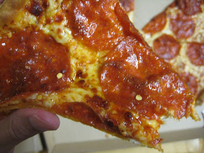 Pizza Hut's Thin N Crispy Pepperoni Pizza