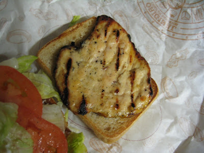 BK Tendergrill Chicken Sandwich inside