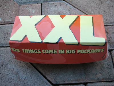 Taco Bell XXL Chalupa in its box