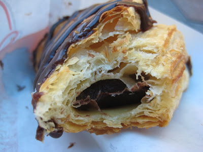 Arby's Chocolate Turnover cross section