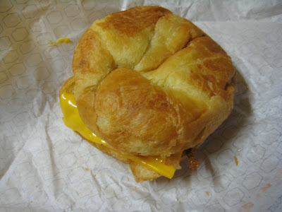Jack in the Box Sausage Croissant top view