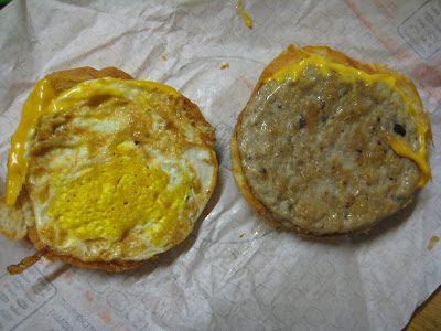 Jack in the Box Sausage Croissant inside view