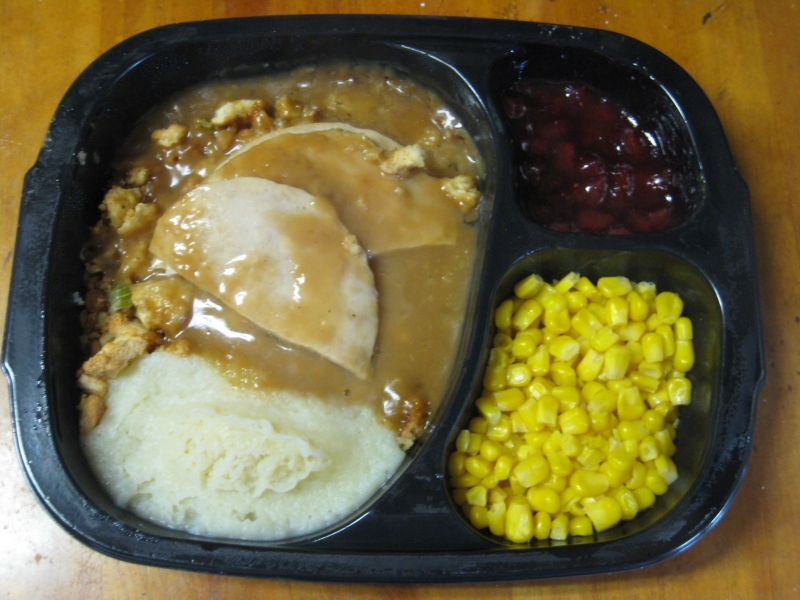 Frozen Friday Hungry-Man - Roasted Carved Turkey Dinner  Brand Eating