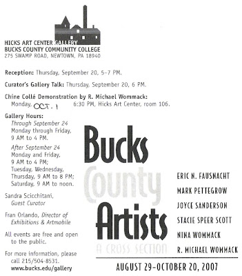 Artists 39 gallery stacie speer scott at bucks county college for Craft shows in bucks county pa