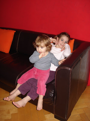 Kalia, 5 next month. Rebecca, 2 next March