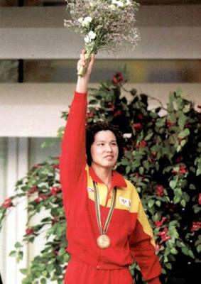 Barcelona 1992 - Yang Wenyi, campeona en los 50 metros libres