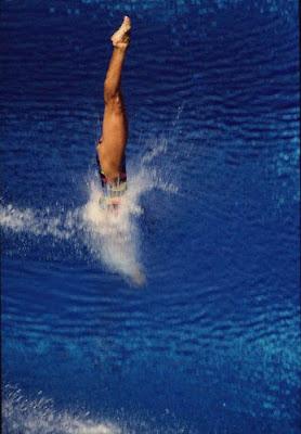 Barcelona 1992 - Gao Min, campeona en salto de trampolín