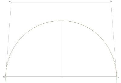 Bezier Semicircle