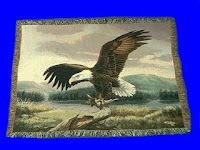 eagle blanket throw tapestry domain