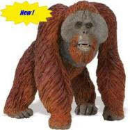 large orangutan toy miniature wildlife wonders